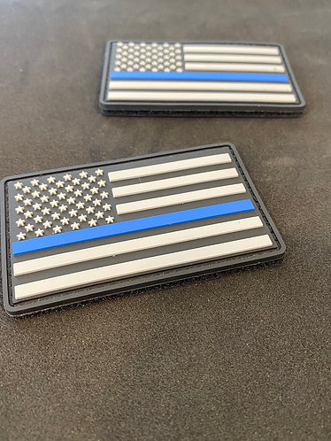 "Blue Line PVC Patches 3 ""x 2"" (Velcro Backing)"