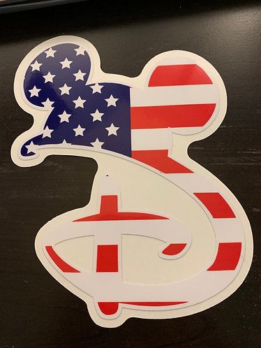 Disney American Flag Decal