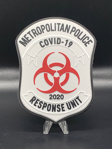 COVID 19 Response Unit PVC patch with velcro