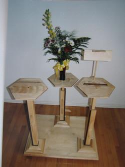 Table pour déposer une urne