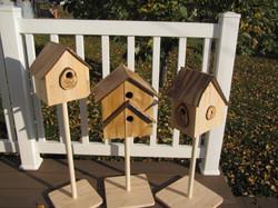 Cabane à oiseaux - Toits en prunier