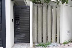 Detalhe muro de entrada
