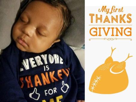 Frank's 1st Thanksgiving!!