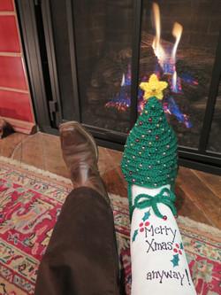 Christmas Break Cast Sock