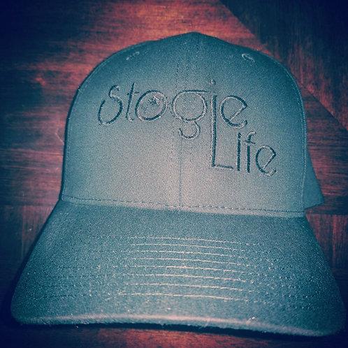 Black on Black Fitted Hat