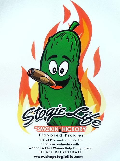 Stogie Life Smoking Hickory Flavored Pickles 16oz jar
