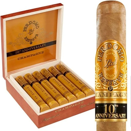 Perdomo 10th Anniversary Champagne Magnum 50 Tube  (6×50)