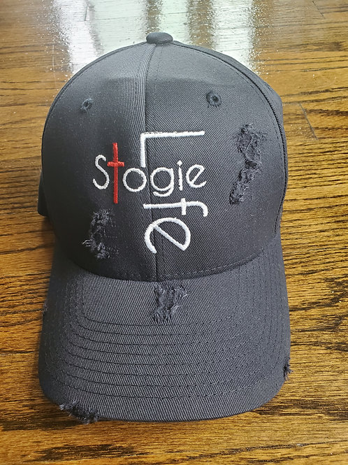 Stogie Life XX Distressed Fitted Cap