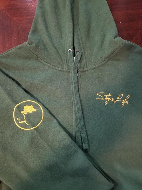 Signature Military Green Zip Hoodie