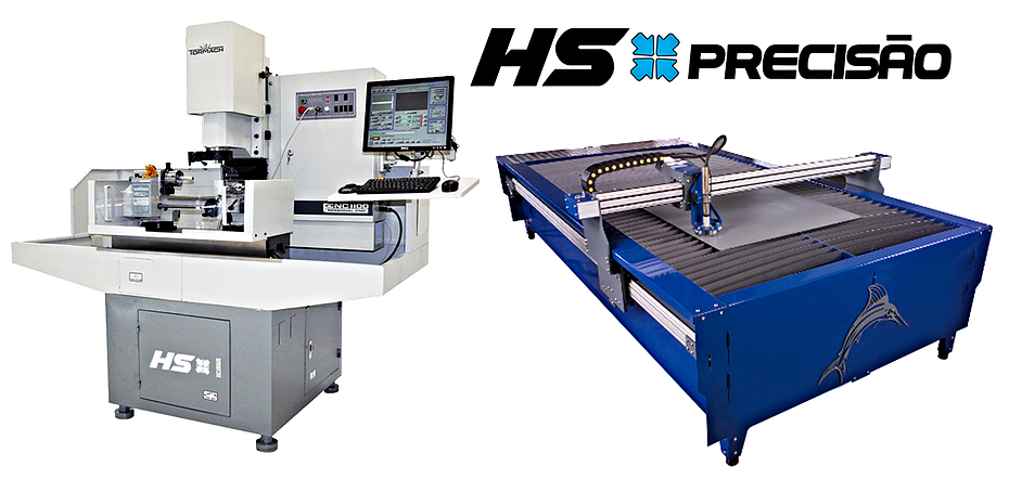 HS Precisão - Cortes de metais em plasma e usinagem de peças