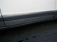 Mercedes W126 Door molding front left