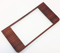 Mercedes wood W123 climate control plate