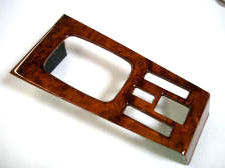 Mercedes wood W123 shift plate burl walnut