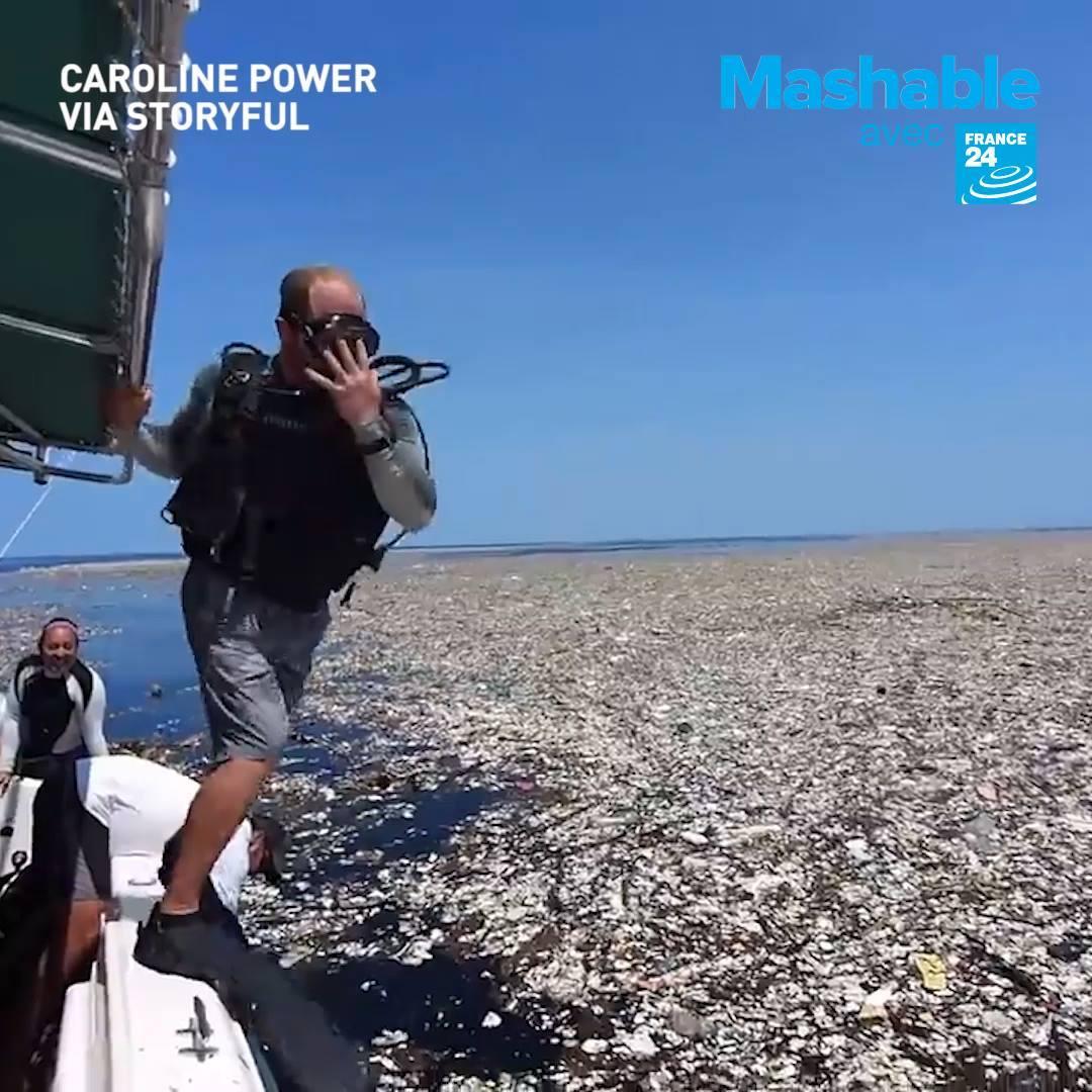 """""""Île de déchets"""" aux Caraïbes"""