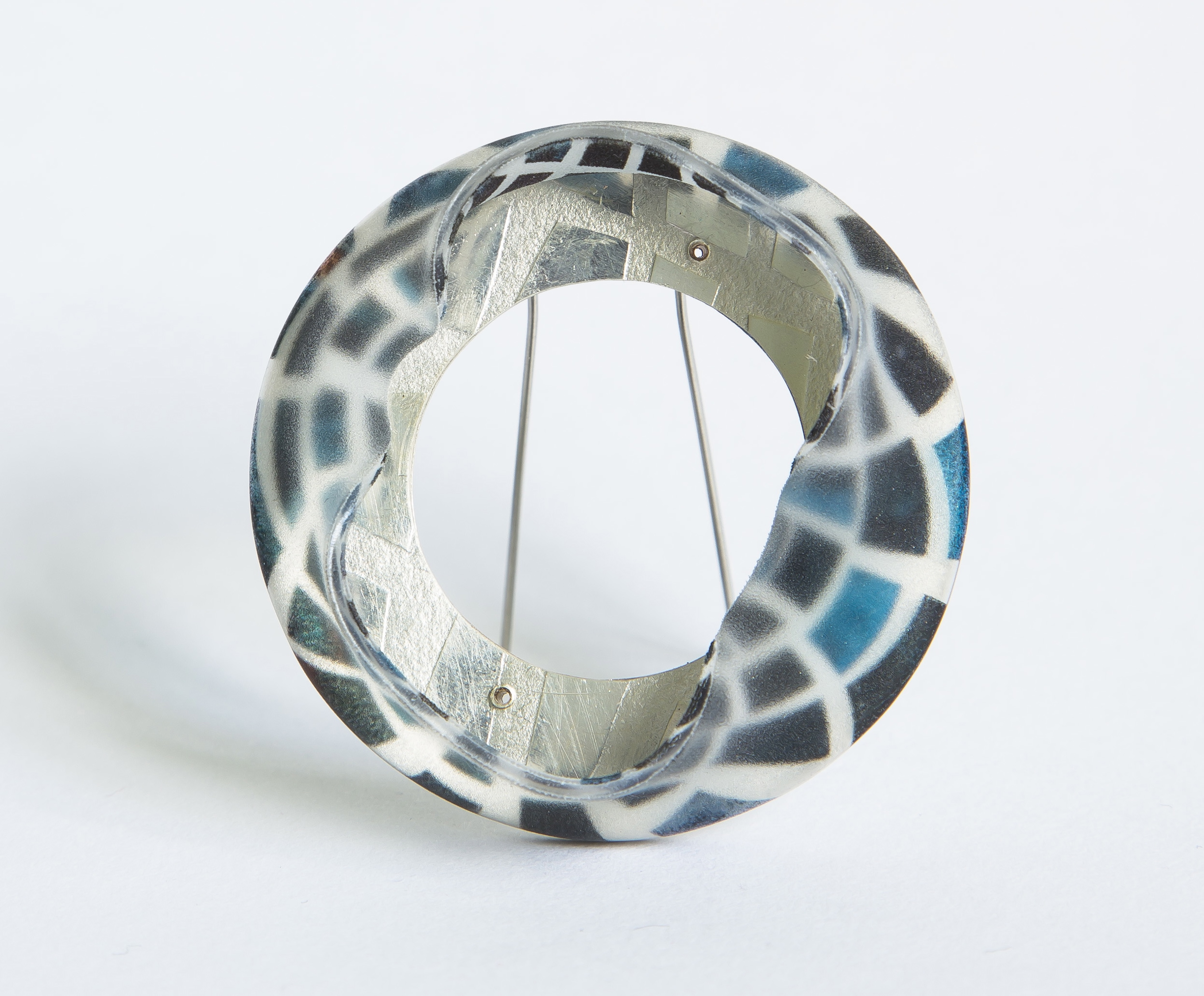 Blue Wrapped Brooch