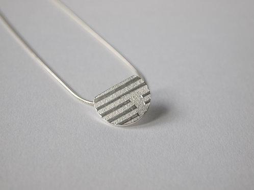 Linear Form Silver Pendant