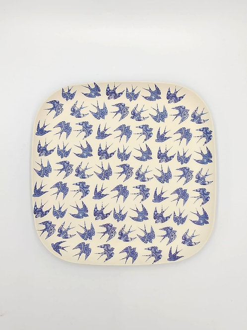 Eco Impact Bamboo | Square Plate | Printed | 28cm