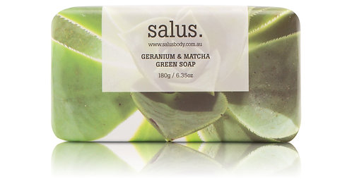 Salus | Geranium & Matcha Green Soap