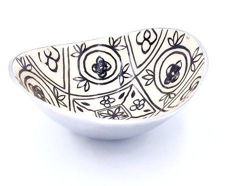 Aluminium Bowl | Black White Print