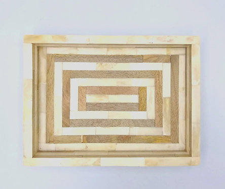 Decorative Timber Bone Tray