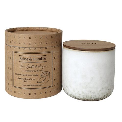 Raine & Humble | Sea Salt & Sage Scented Candle | Large