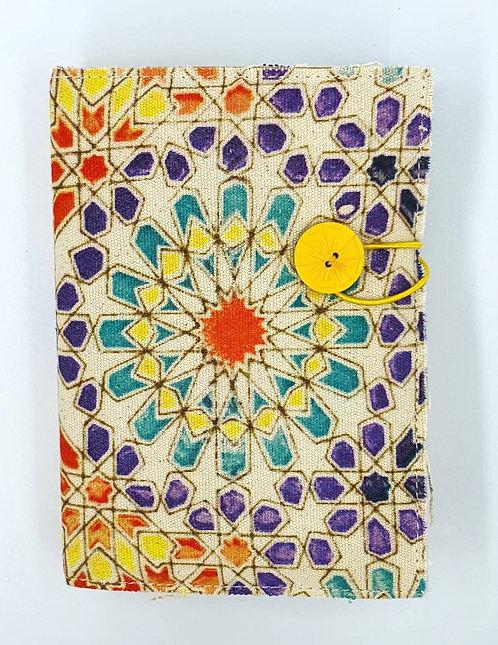 NERO - Multi coloured canvas journal