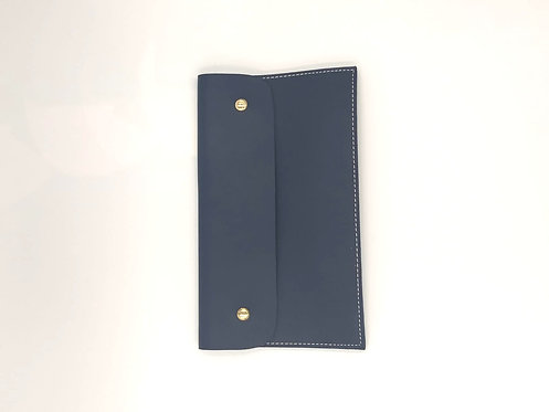 Navy Leather Pouch