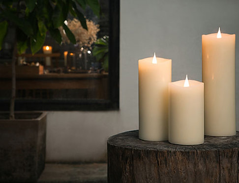 Soy Wax LED Flameless Candles | Ivory