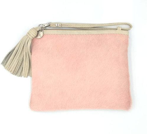 Vash | Pink Hide Clutch