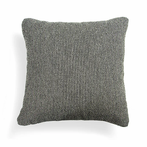 Black White Textured Pillow