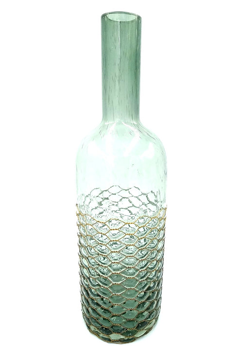 Long Neck Vase | Copper Mesh | Medium