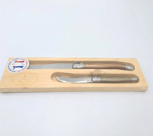 Laguiole | 2 Piece Cheese Set | Metallic