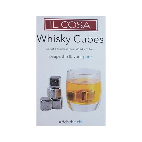 IL Cosa | Stainless Steel Set x 4 Whisky cubes W Bag