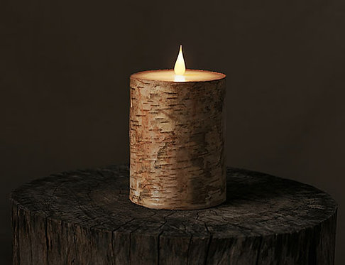 LED candle bark printed