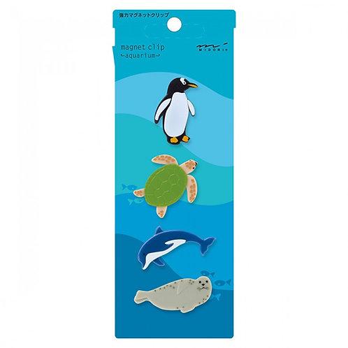 Midori | Magnet Clips | Aquarium 4 Piece Set