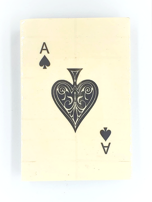 Bone Cream Playing Card Box | Single