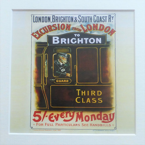Excursion from London to Brighton LB&SCR - Art Prints