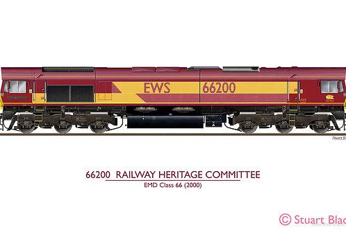 66200 'Railway Heritage Committee' (EWS) Locomotive - Art Print