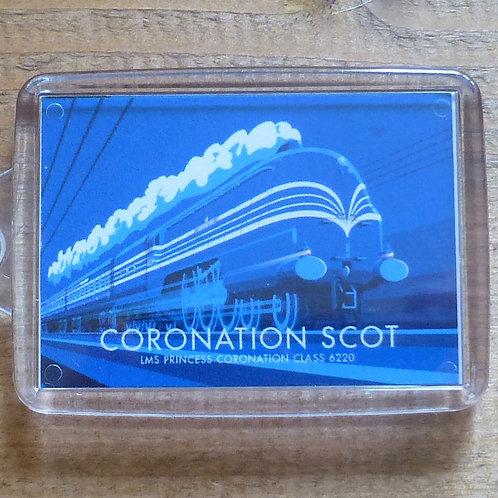 Coronation Scot Locomotive - Keyring