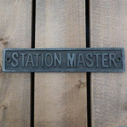 Station Master - Cast Iron Plaque