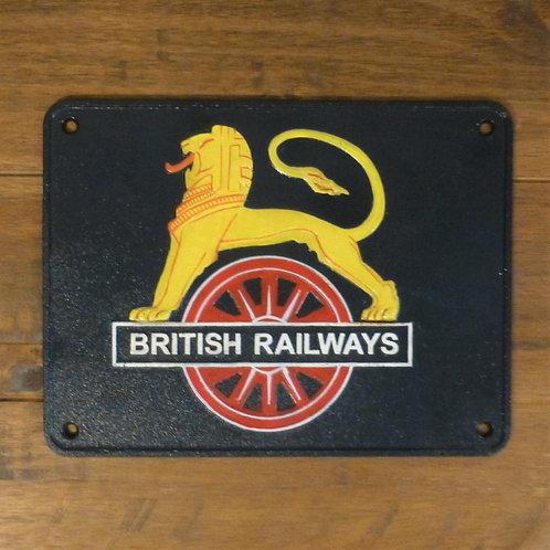 British Railways Lion - Cast Iron Plaque