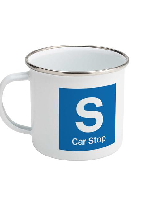Car Stop - Enamel Mug