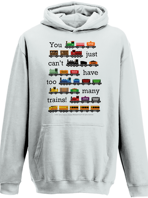 You Just Can't Have Too Many Trains - Child's Hoodie