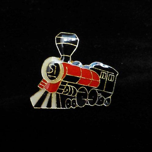 Wild West Steam Locomotive (Red) - Badge