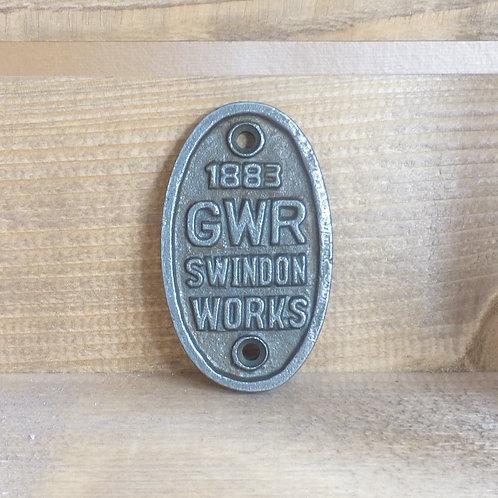 GWR Swindon Works - Cast Iron Plaque