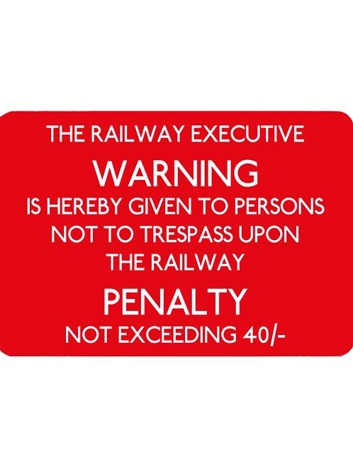 Railway Executive Warning - Pet Food Mat
