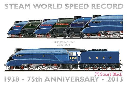 World Speed Record 75th Anniversary - Art Print