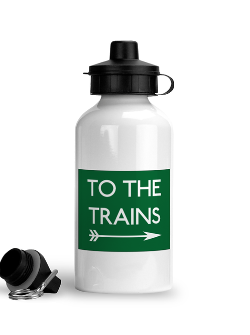 To The Trains - Sports Water Bottle