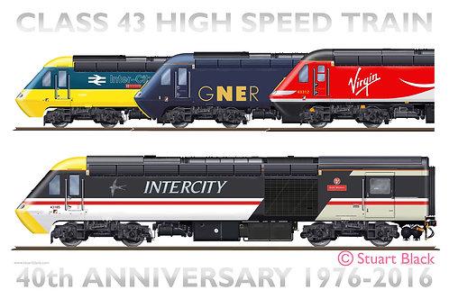 HST Class 43 - 40th Anniversary - Art Print