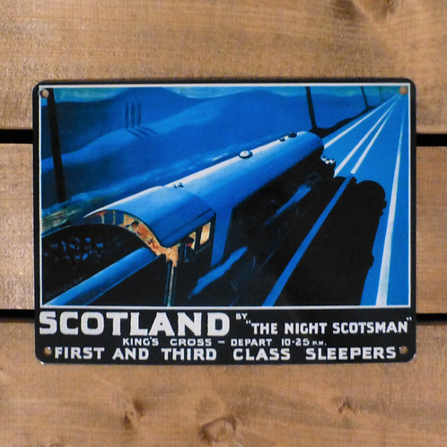 The Night Scotsman - Metal Sign